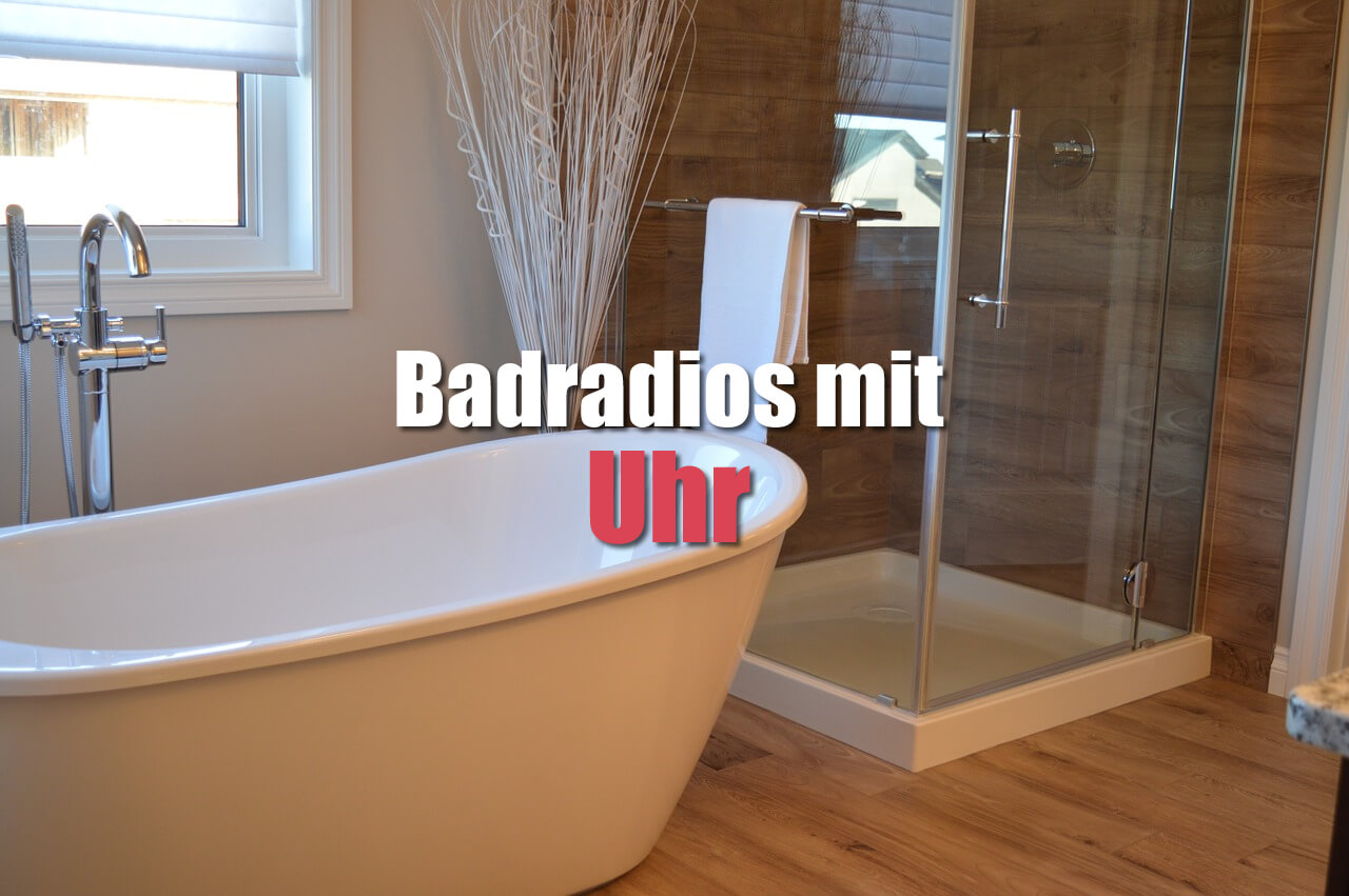 badradio mit uhr badradio. Black Bedroom Furniture Sets. Home Design Ideas